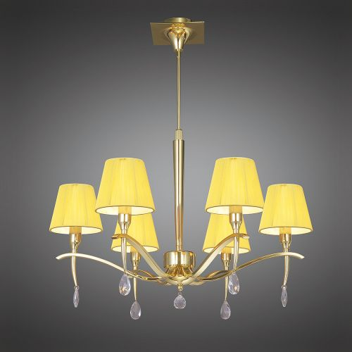 Mantra Siena 6 light Polished Brass Ceiling Pendant M0342PB