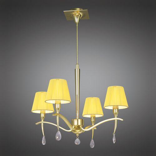 Mantra Siena 4 light Polished Brass Pendant M0343PB
