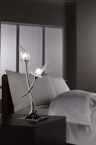 Mantra Flavia Table Lamp 2 Light Polished Chrome M0310