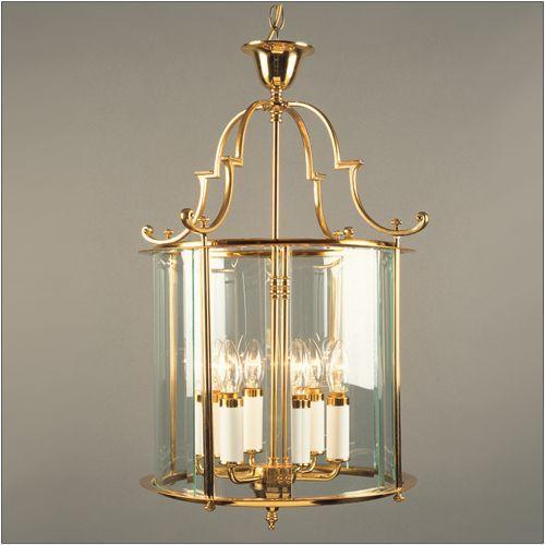 Impex LG07000/15/PB Colchester 6 Light Polished Brass Indoor Lantern