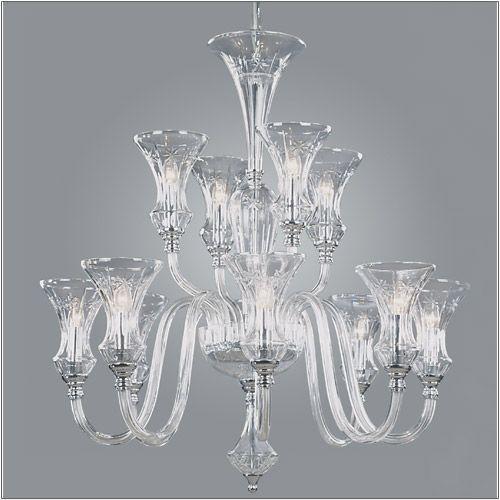 Impex Stara Lead Crystal 12 Light Chandelier CB05444/12
