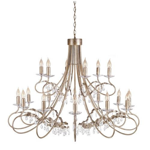 Elstead CRT18 Christina 18 Arm 2 Tier Chandelier Silver Gold Finish