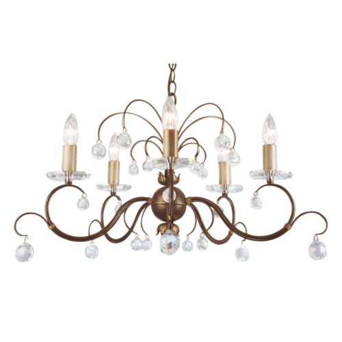 Elstead Lunetta 5 Light Bronze Chandelier ELS/LUN5 BRONZE