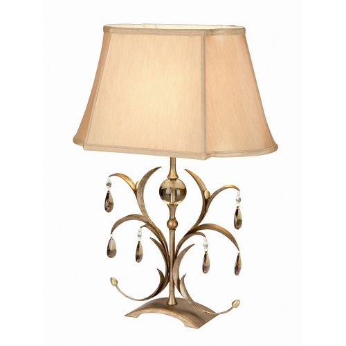 Elstead Lily Table Lamp LL/TL Metallic Bronze With Shade