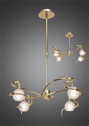 Mantra Dali  Polished Brass 4 Light Pendant M0080PB