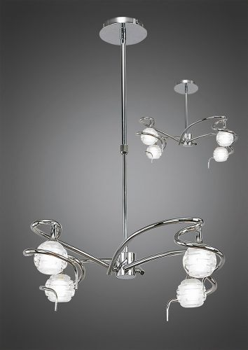 Mantra Dali 4 Light Chrome Ceiling Fitting M0080