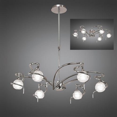 Mantra Dali 6 Light Polished Chrome Ceiling Light M0079