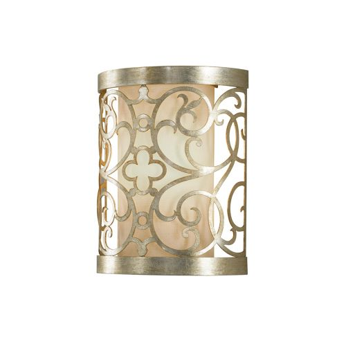 Feiss Arabesque Wall Light With Silver Leaf Patina FE/ARABESQUE1