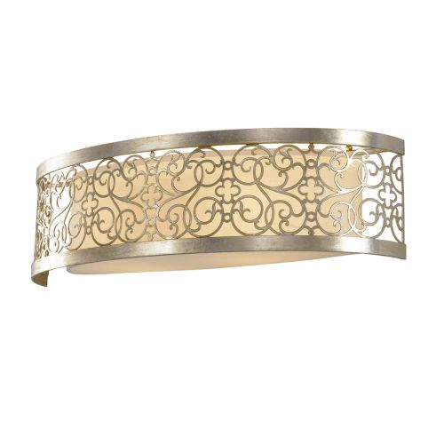 Feiss Arabesque Wall Light With Silver Leaf Patina FE/ARABESQUE2