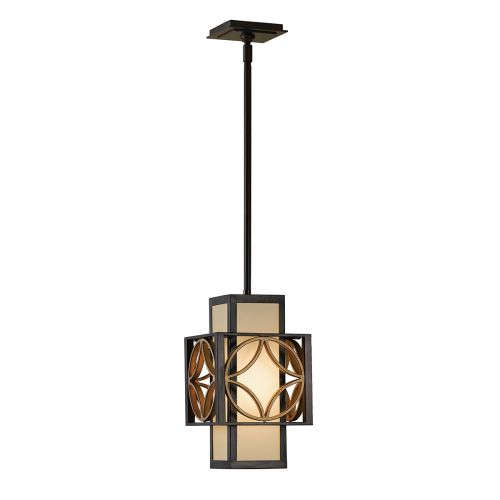 Feiss FE/REMY/P/C Remy 1Lt Heritage Bronze and Gold Ceiling Mini Pendant