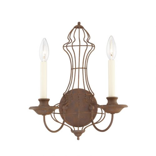 Quoizel Laila Wall Light With Rustic Antique Bronze Finish QZ/LAILA2