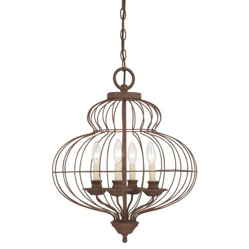 Quoizel Laila Ceiling Fitting. Rustic Antique Bronze Finish QZ/LAILA4B
