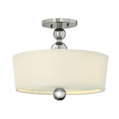 Hinkley Zelda HK/ZELDA/SF PN Ceiling Semi-Flush 3 Light Polished Nickel