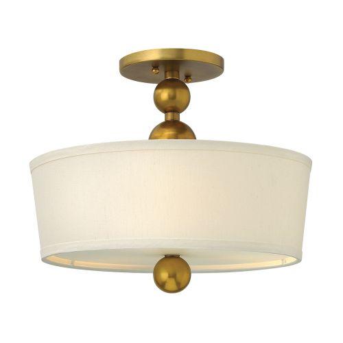 Hinkley Vintage Brass Semi-Flush With Spherical Detail HK/ZELDA/SF VS