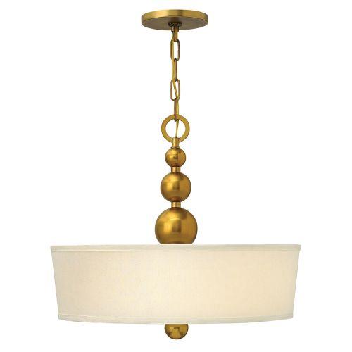 Hinkley Vintage Brass Large Pendant Spherical Detail HK/ZELDA/P/B VS