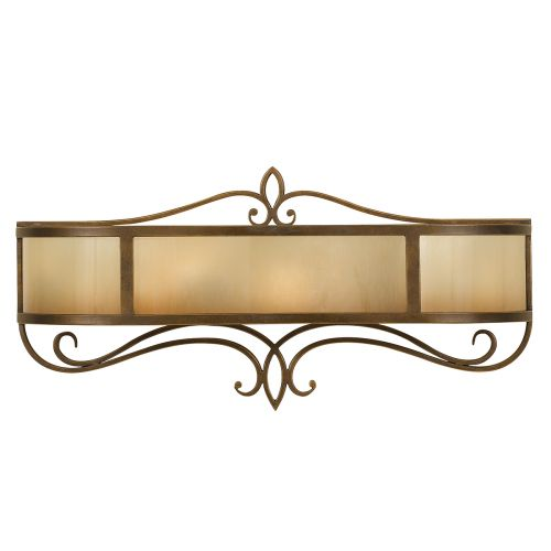 Feiss Justine Astral Bronze Vanity Wall Light Oak Glass FE/JUSTINE2/A