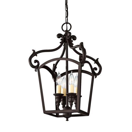 Feiss Luminary Hanging Indoor Lantern in Oil Rubbed Bronze FE/LUMINARY/P/A