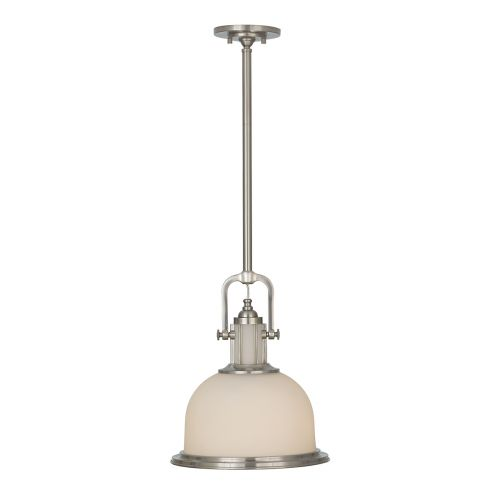 Feiss Parker Place Brushed Steel Industrial Pendant FE/PARKER/P/M BS