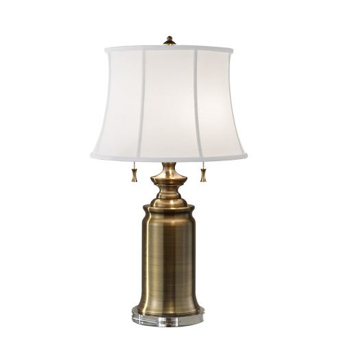 Feiss State Room Bali Brass Table Lamp With Shade FE/STATERM TL BB