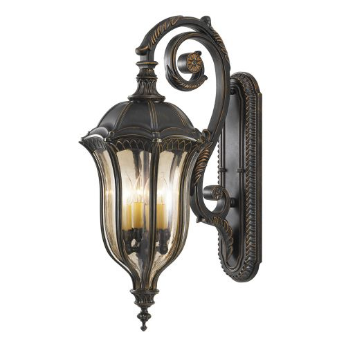 Feiss Baton Rouge Walnut Finish Large Outdoor Lantern FE/BATONRG/L