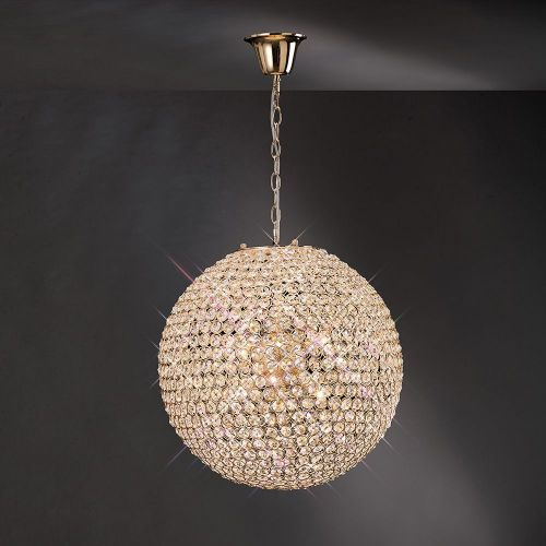 Diyas IL30753 Ava Pendant 7 Light French Gold Crystal