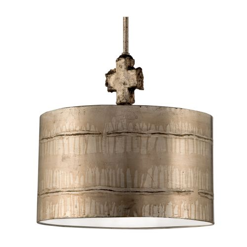 Flambeau Fragment Silver Pendant Decorative Finial FB/FRAGMENT-S/PL