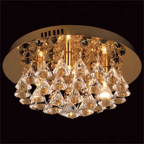 Impex Parma CFH011025/04/G 4 Light Gold Flush Ceiling Fitting