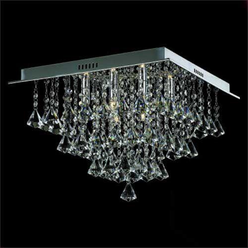Impex Parma CFH301171/06/PL/CH 6 Light Square Flush Chrome Ceiling Fitting