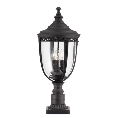 Feiss FE/EB3/L BLK English Bridle Large Black Outdoor Pedestal Light