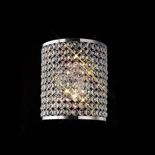 Diyas Ava 2 Light Rectangle Wall Lamp  Polished Chrome/Crystal IL30199