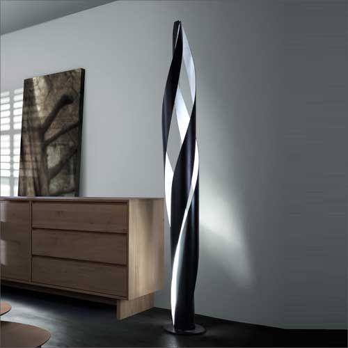 Grok Bosquet Black Finish Spiralling Floor Lamp 25-1837-05-05