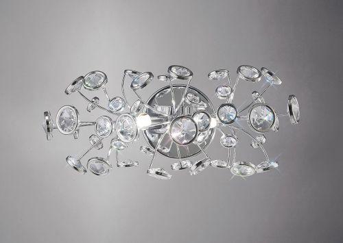 Diyas IL31400 Savanna Wall Lamp Switched 2 Light Polished Chrome Crystal