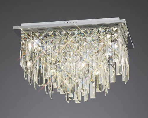 Diyas  Maddison 6 Light Ceiling Square Polished Chrome/Crystal IL30252