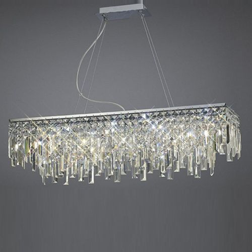 Diyas  Maddison 6 Light Pendant Rectangular  Polished Chrome/Crystal IL30255