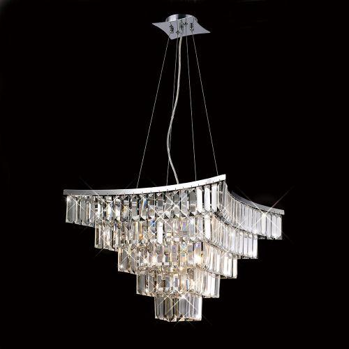 Diyas Gianni 9 Light Pendant  Polished Chrome/Crystal IL30643