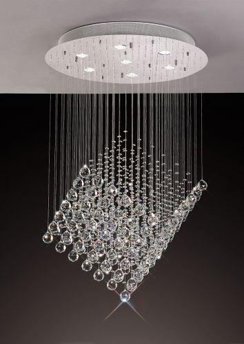 Diyas  Colorado 7 Light Diamond  Pendant  Polished Chrome/Crystal IL30783