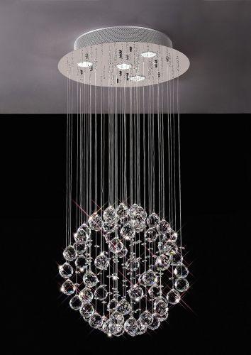 Diyas  Colorado 4 Light Pendant Small Sphere  Polished Chrome/Crystal IL30780