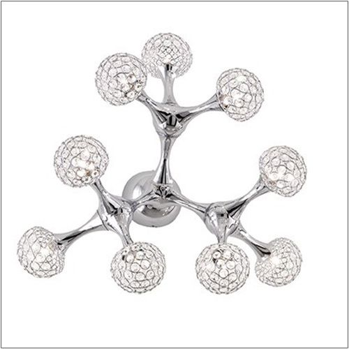 Ideal Lux Nodi Crystal Wall Light PL9 093505 Polished Chrome
