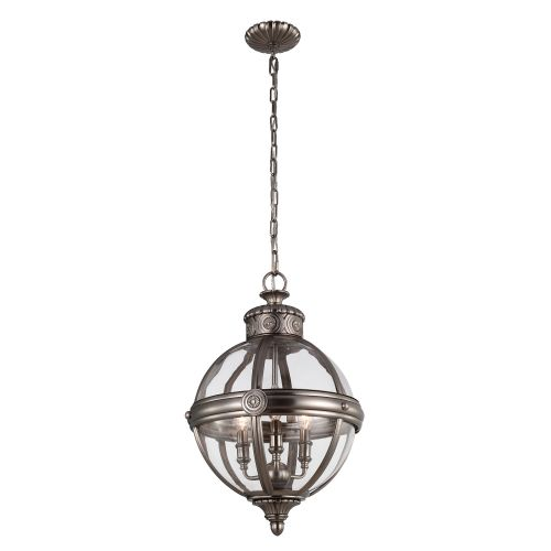 Feiss Adams 3 Light Globe Pendant FE/ADAMS/3P ANL