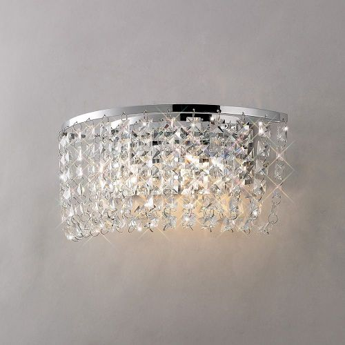 Diyas IL30052 Cosmos Wall Lamp Switched 2 Light Polished Chrome Crystal