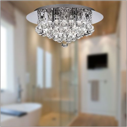 Searchlight Hanna Crystal Bathroom Ceiling Fitting 4404-4CC-LED Polished Chrome