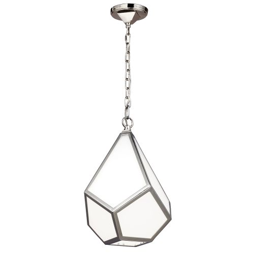 Feiss Diamond Polished Nickel Small Pendant FE/DIAMOND/P/S