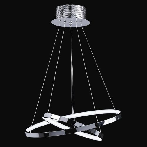 Endon KLINE-2CH 2 Ring Chrome LED Pendant