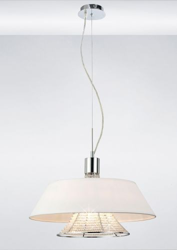 Diyas Davina Asfour Crystal Pendant With White Shade Large IL30041WH