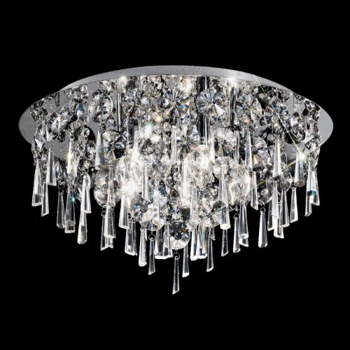 Flush Ceiling Light Fitting Crystal Glass Droplets Marsalis LEK60049