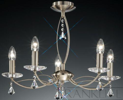 Multi-Arm Ceiling 5 Light Fitting Larvotto Bronze LEK61293