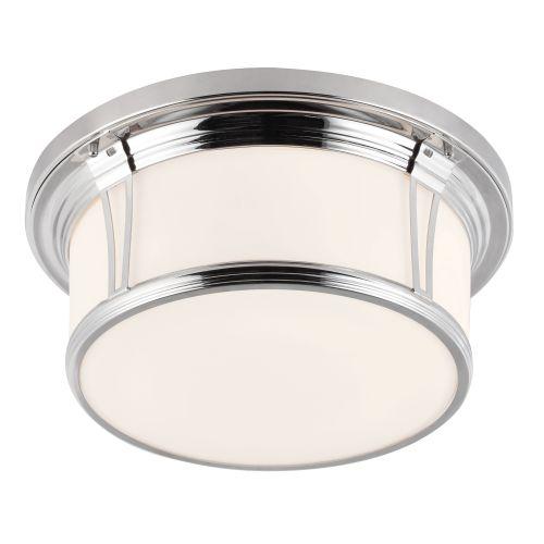 Feiss FE/WOODWARD/F/L Woodward 3Lt Polished Chrome Bathroom Ceiling Flush