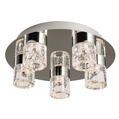 Endon Imperial 5 Light LED Bathroom Ceiling Fitting IP44 61358