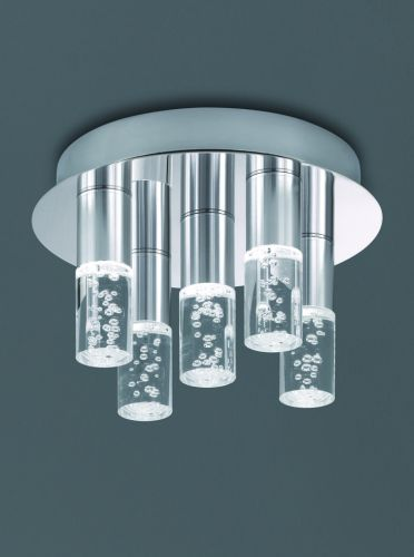 LED Bathroom Flush Ceiling Fitting Polished Chrome LEK60080