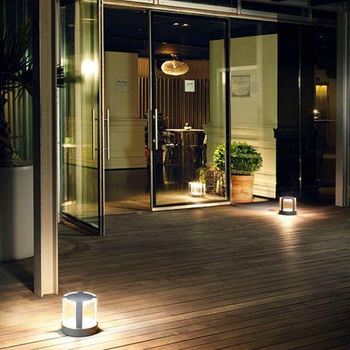 LEDS C4 Compact LED Outdoor Pedestal 10-9847-Z5-CL Urban Grey